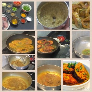 bengali fish curry cooking
