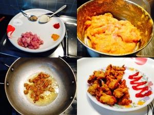 chicken popcorn cooking process