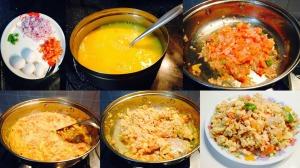 egg bhurji cooking process