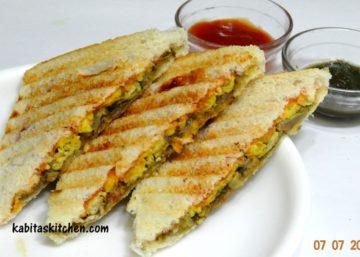 egg bhurji sandwitch